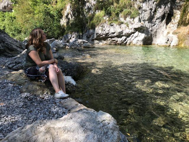 Ik bij de Ampola waterval
